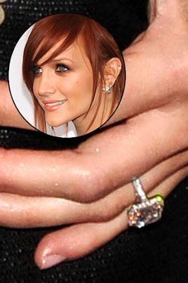 Ashlee Simpson Diamond Engagement Ring