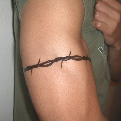 Barbed Wire Tattoo Design - Armband Tattoo. RANDOM TATTOO QUOTE: There is no