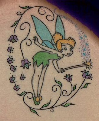 Cute Fairy Tattoo Design -  Feminine Tattoo