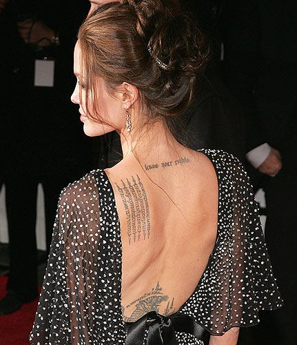 Engelina Jolie Tattoo Blog