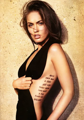 Megan Fox Sexy Tattoo Design