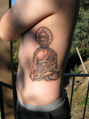 Religious Buddha Tattoo - Side Body Tattoo