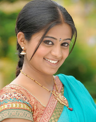 Actress Priyamani in Gold Ruby Pendant