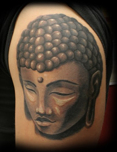 Religious Tattoo Design - Buddha Tattoo on Arms
