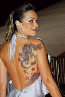 Dragon Tattoo Design on Hot Girls Back Body