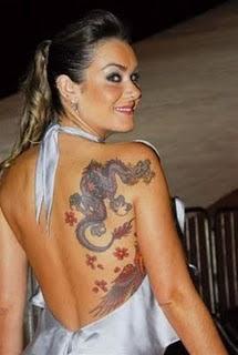 Dragon Tattoo Design on Hot Girls Back Body