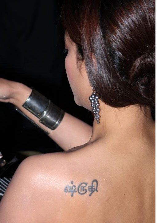 Actress Shruti Hassan Tattoo - Bollywood Tattoo