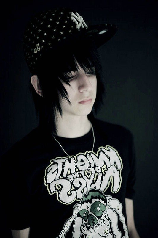 cool emo hairstyle for guys. The most popular emo hairstyles for boys are