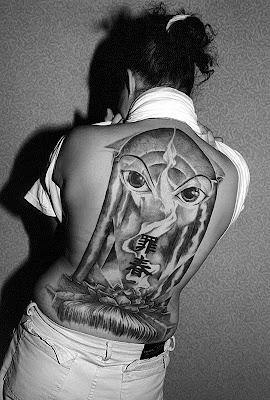 Tattooed Women Back Tattoo Design