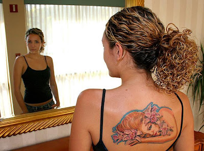 Beautiful Tattooed Women Back Tattoo