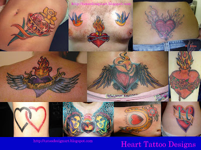 Beautiful Heart Tattoo Designs