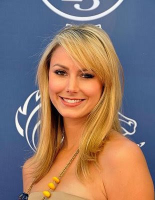 bang hairstyle pictures. WWE Diva Stacy Keibler Long Bangs Hairstyle