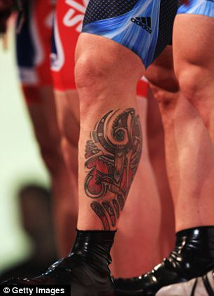 Great Britain Cyclist Jamie Staff Biomechanical Design Tattoo