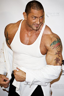 Dave Batista Tattoos - WWE Superstar Tattoo Design