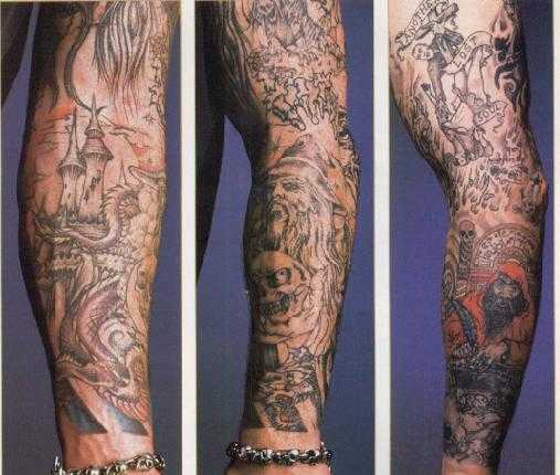 WWE Superstar Undertaker Arm Sleeves Tattoo Picture