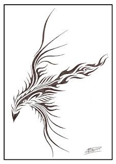 Bird Tattoo Doodle