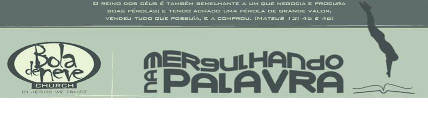MERGULHANDO NA PALAVRA