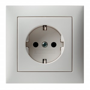 Das blog fitting a german continental european plug heres a photo of a german european socket the contacts at 12 oclock and 6 oclock are for the earth contact strips the holes at 9 and 3 oclock are asfbconference2016 Choice Image