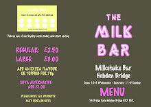 The Milk Bar Menu