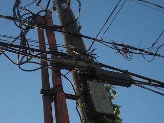 zoom sur un poteau electrique de seattle