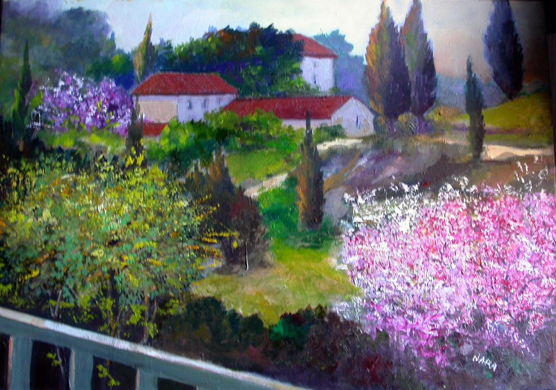 Super dipinti di nara burgalassi: PAESAGGI (colori ad olio) VP14