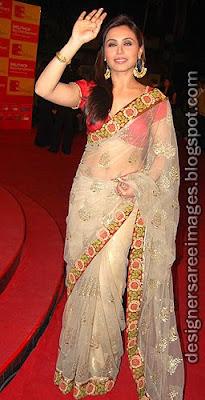 Rani Mukherjee in Designer Manish Malhotra saree