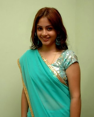 Suhani in Blue Saree  http://designersareeimages.blogspot.com/