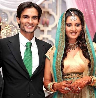 Tennis Star Sania Mirza in Bridal dress