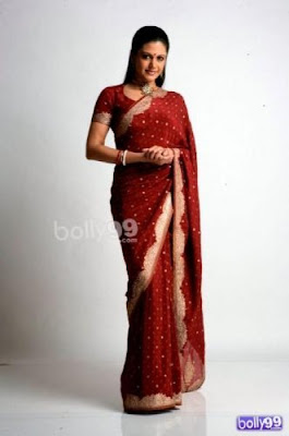 Mandira Bedi in Traditional Red Saree