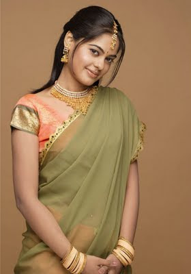 Actress Bindhu Madhavi in half saree