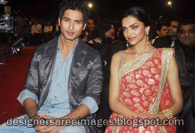Deepika Padukone Designer work saree