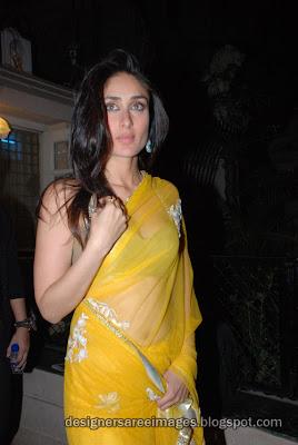 Bollywood actress Kareena Kapoor in Transparent Saree