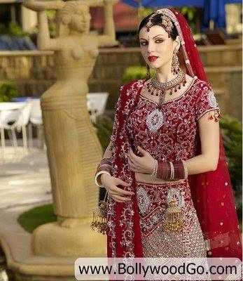 Yana Gupta in Bridal Dress