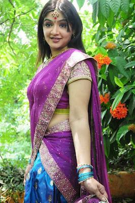 Aarti Agarwal Telegu Actress in Half Saree