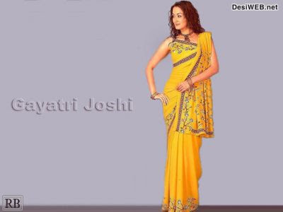 Gayatri Joshi in Yellow Embroidery Saree