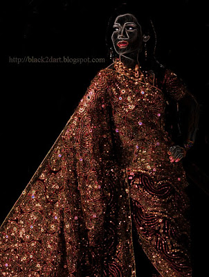 designer work saree indian model photo