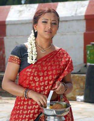 Swetha Basu in half Saree
