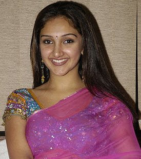 actress in saree designer blouse