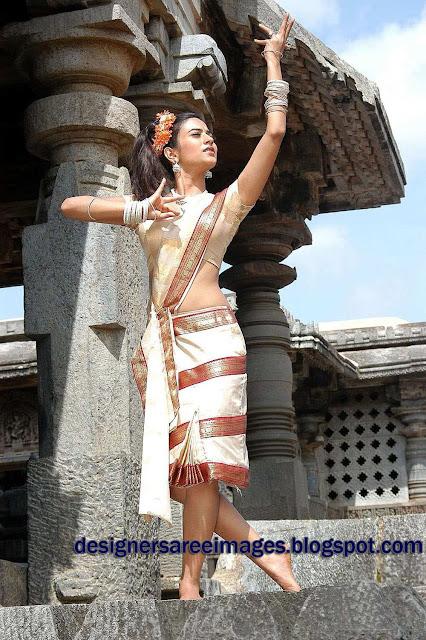 Tollywood Actress Aditi Sharma in Traditional Saree photos