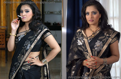 Tamil Actress Mumtaz in Black Designer Saree image