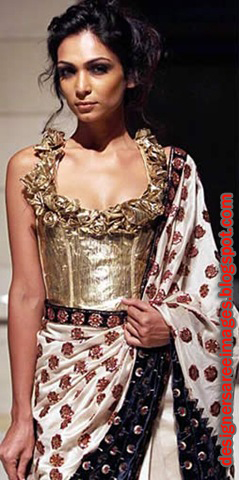 Rohit Bhal Designer Saree at Delhi Couture Week 2010