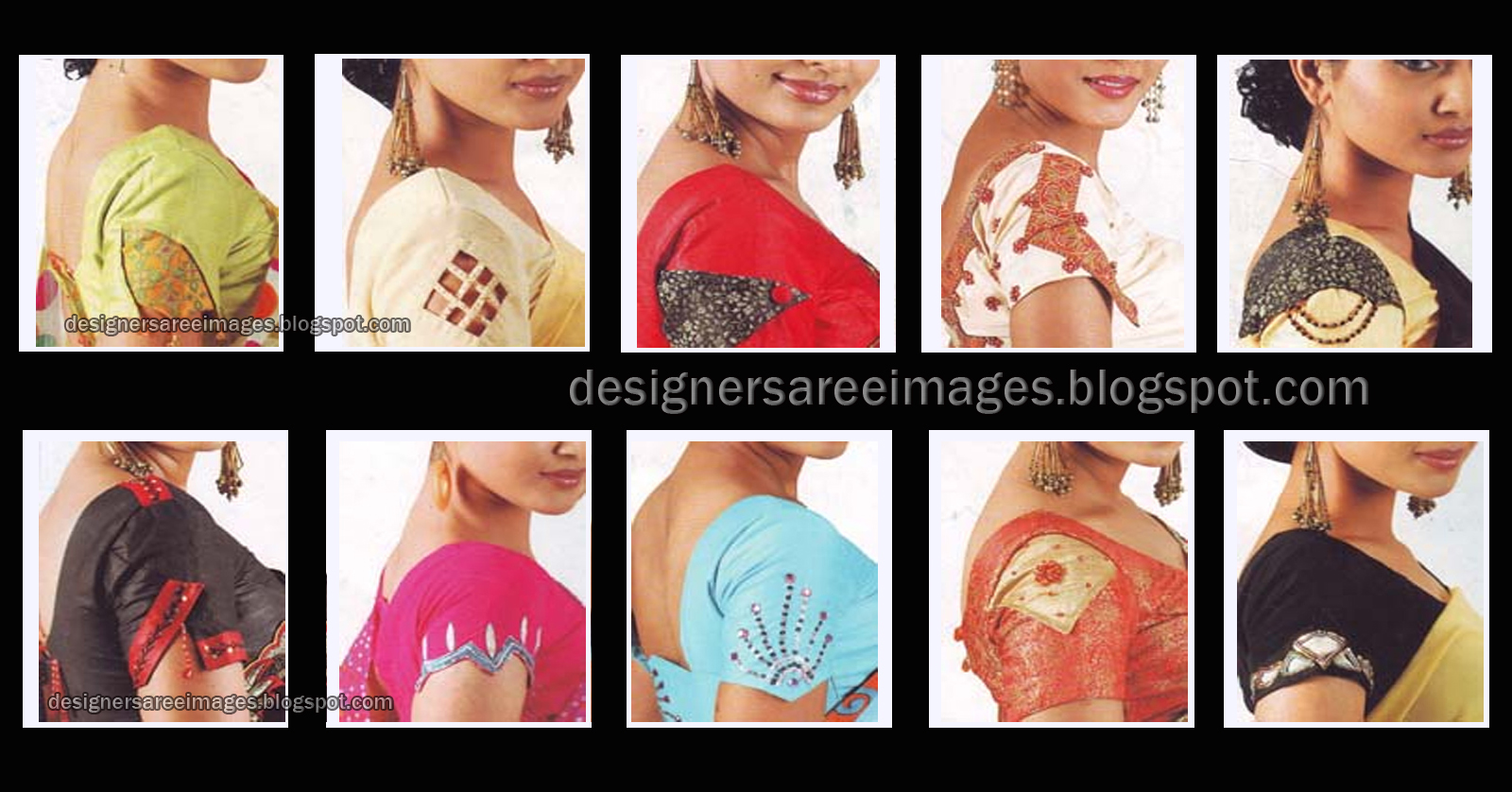 2010, Blouse Back Design, Blouse Neck Patterns, Blouse Sleeves Design
