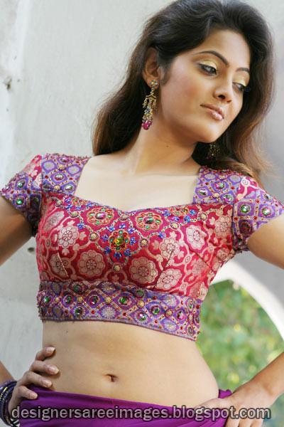 Indian Girls In Designer Blouse Saree Blouse Neck Designs