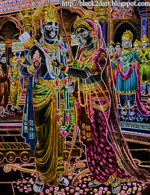 Hindu God Rama and Sita Marriage Picture