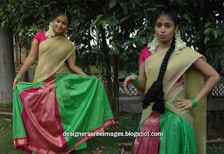 Actress Sairabanu in Designer Pawadai Dawani Dress