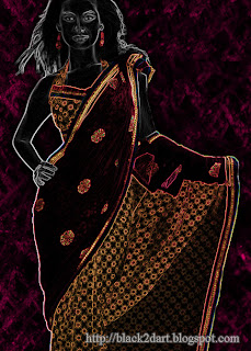 Indian Fashion Models in Designer Sarees