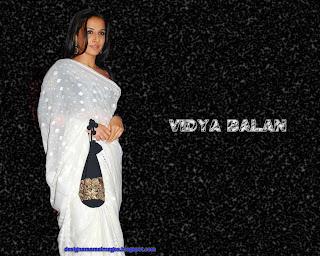 Vidya Balan looks gorgeous in white Designer Saree