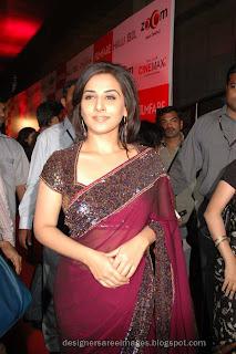 Vidya Balan in Designer Saree pictures