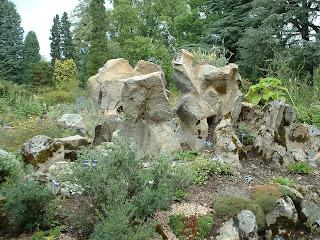 Le jardin alpin et ses plantes et roches