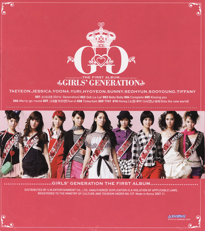 SNSD – 1st Album : Girls' Generation